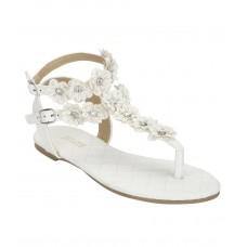 Ladies Flower Sandals With Studs