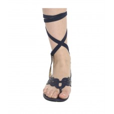 Sandals with Ribbon at Ankle