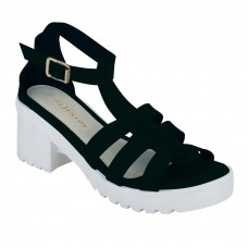 Black Strappy Gladiator Sandals