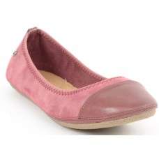 Faux Leather Walk Cut Tip Foxy Pink Bellies