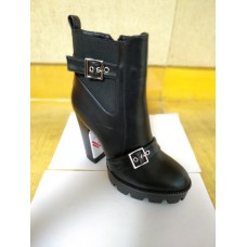 Ladies Ankle Boot  Block Heel with Buckle