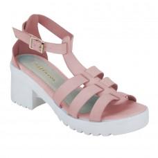 Pink Strappy Gladiator Sandals