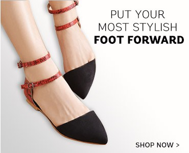 put your most stylish foot forward